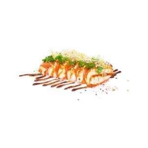 Grillattu lohi sashimi