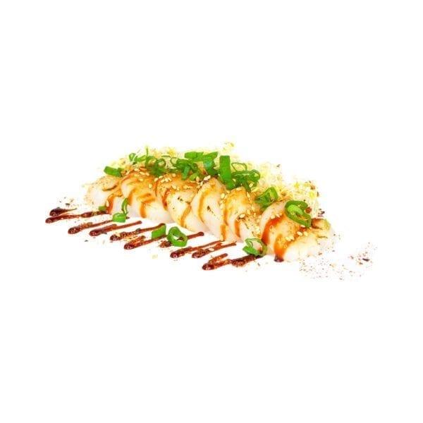 Grillattu kampasimpukka sashimi