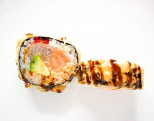 spicy deluxe tempural roll